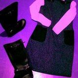 Платье Сарафан тёплый шерсть замш дизайнер