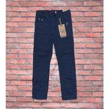 Распродажа. Синие коттоновые брюки на флисе р. 116 и 122. Венгрия