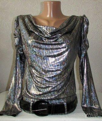 Шикарнейшая блуза ГолограммА -пояс в подарок