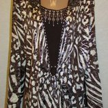 Блуза-Туника шоколадное кружево для пышной красотки
