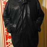 Мужская кожаная куртка, плащ OAKWOOD.