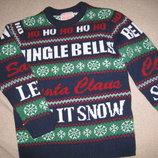 Новогодний свитер George 8-9л