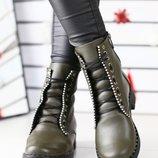 Женские ботинки хаки