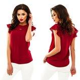 Женские летние блузки короткий рукав женская летняя блузка блуза шифон классическая однотонная