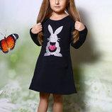 Тёплое платье 92-134 рост