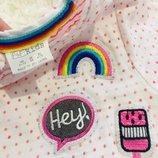 Модная футболка с патчами радуга F&F