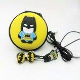 Детский набор Бетмен наушники и чехол , новые