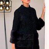 Норковая шуба- пальто норка и персидская каракульча Saga Furs