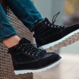 Черные мужские зимние ботинки ботинки south indigo black 41 42 43 44 45 размер