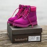 Женские розовые ботинки timberland 36 37 38 39 40 размер