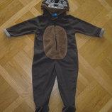 Детский флисовый комбинезон- новогодний костюм, пижама Волк, Собака на 3года, 98см Primark