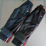 Теплые штаны плащевка на флисе, 134-152р, два цвета