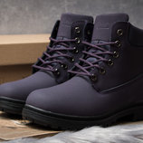 Зимние ботинки на меху Timberland Premium Boot, фиолетовые