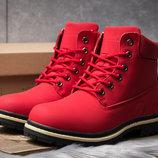 Зимние ботинки на меху Timberland Premium Boot, красные