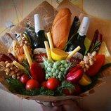 Мужской букет, букет из фруктов, подарок, женщине, мужчине, пивной букет
