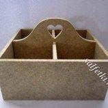 Шкатулка для чайных пакетиков с 3 ячейками МДФ