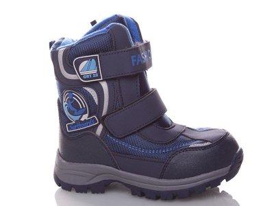 Сапоги термо, зимние ботинки мальчик, синие р.28 овчина