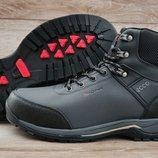 Серые зимние мужские кроссовки ботинки Ecco Biom