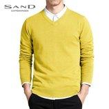 Шерстяной мужской свитер с v - образным вырезом, джемпер Sand р. M