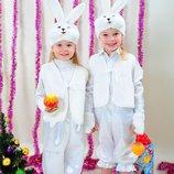 Новогодний костюм для детей Зайчик мальчик