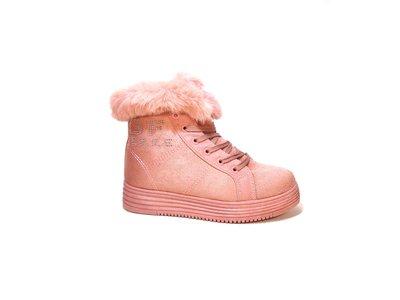 Ботинки женские, зимние, замшевые, розовые. Размер 35-40.