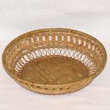 Соломенная тарелка, конфетница, поднос для хлеба 21 см