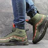 Nike 97 кроссовки мужские зимние темно зеленые 6846