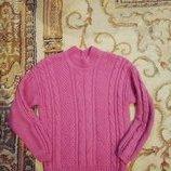 Красивенный,теплющий свитерок,цаета пыльной розы 128-134