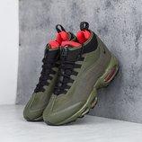 Как Оригинал. Бесплатная доставка. Зимние Кроссовки Nike Air Max 95 Sneakerboot хаки Зима KS 749