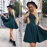 Новинка Яркое платье Юбка-Солнце 2 цвета от р40 по р46
