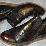 Супер модные лаковые ботинки street shoes розміри 37 39 40 41, ботінки