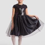Детское нарядное пышное платье 2-142 Пайетка Атлас Сетка .