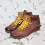 Pikolinos Комфортные кожаные ботинки на танкетке 41 размер 27 см стелька