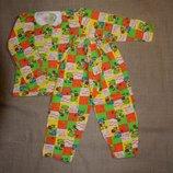 Нова тепла 4-5 рост 105-110 и 32 64 р новая теплая пижама байковая 100% хлопоковая пижама в садик