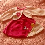 Красивое платье с болеро теплое на 1-1,5 года