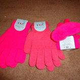 вязаные стрейчевые перчатки с начесом.