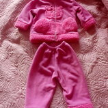 Костюм теплый для девочки кофта штаны на 1-1,5 года