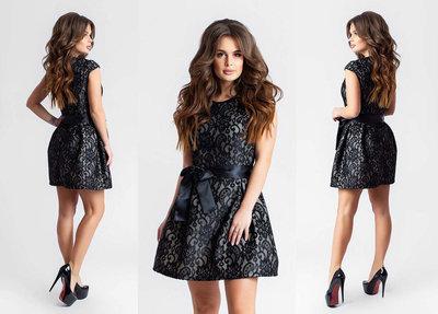 131798846bc Женское короткое нарядное платье 2-679 Куколка Шитьё Неопрен в расцветках
