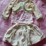 Костюм нарядный кофта юбка вельветовый
