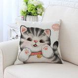 Очаровательные наволочки с котенком. Милые кошки котенок. Декоративная наволочка. Домашний декор