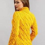 Женский вязаный свитер с горлом, цвета разные