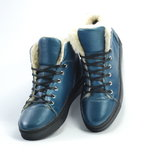 Скидка до Нового года.Стильные женские зимние ботинки из натуральной кожи