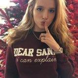 свитшот новогодний дорогой санта dear santa i can explain sweater