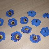 Цветы-Головки. Мак синий