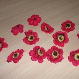 Цветы-Головки. Мак бордовый