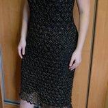 Нарядное вязанное платье крючком