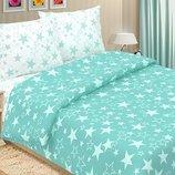 Звезды Бирюза - купить постельное белье для взрослых и детей 100% хлопок