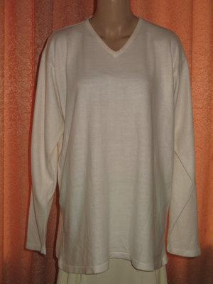Распродажа -50% скидка Джемпер свитер белый размер XXL