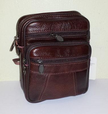 Мужская сумка из натуральной кожи 19x15x7см арт.950