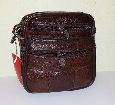 Мужская сумка из натуральной кожи 17x16x7см арт.8260